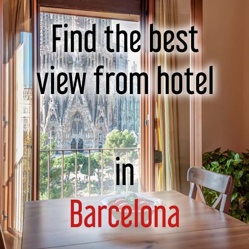 Hotels with most beautiful view in Barcelona, Spain