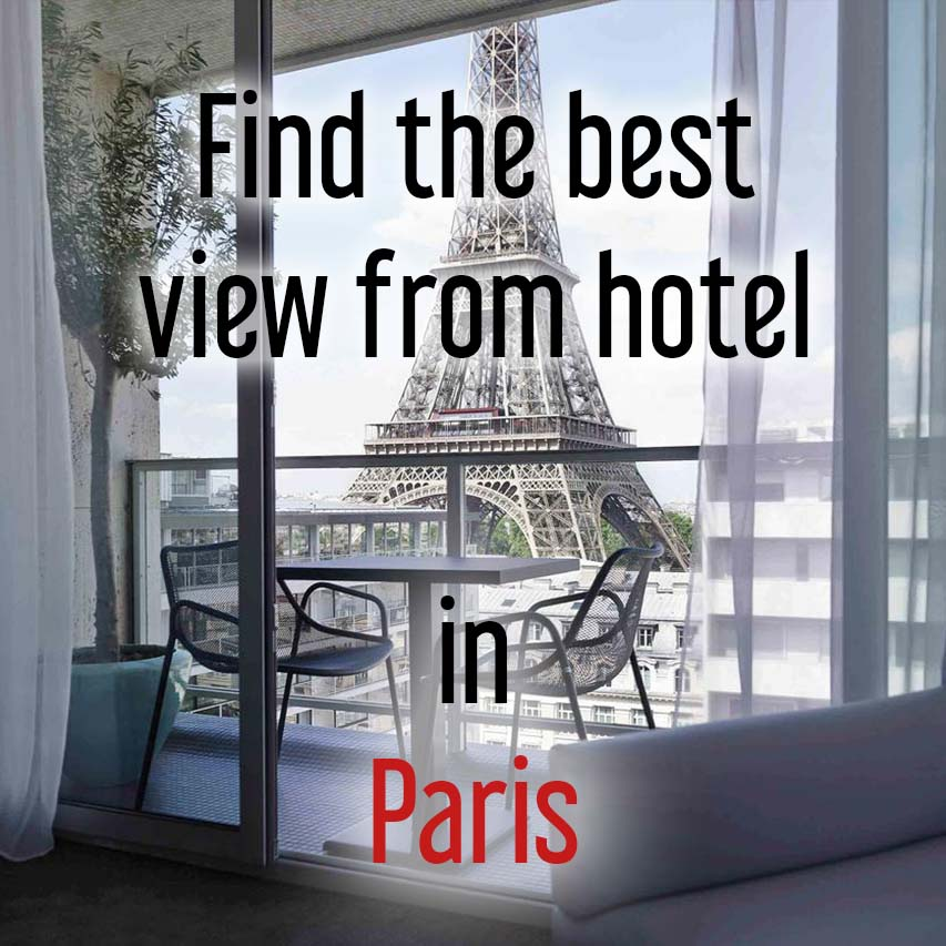 Hotels with best view in Paris