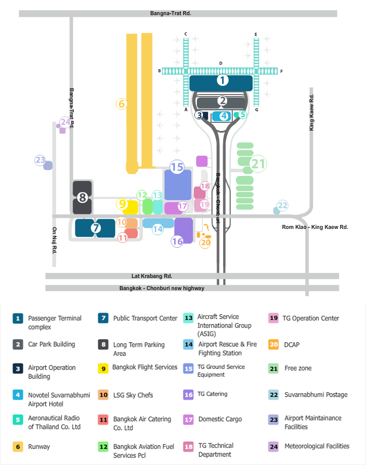 BKK Airport map