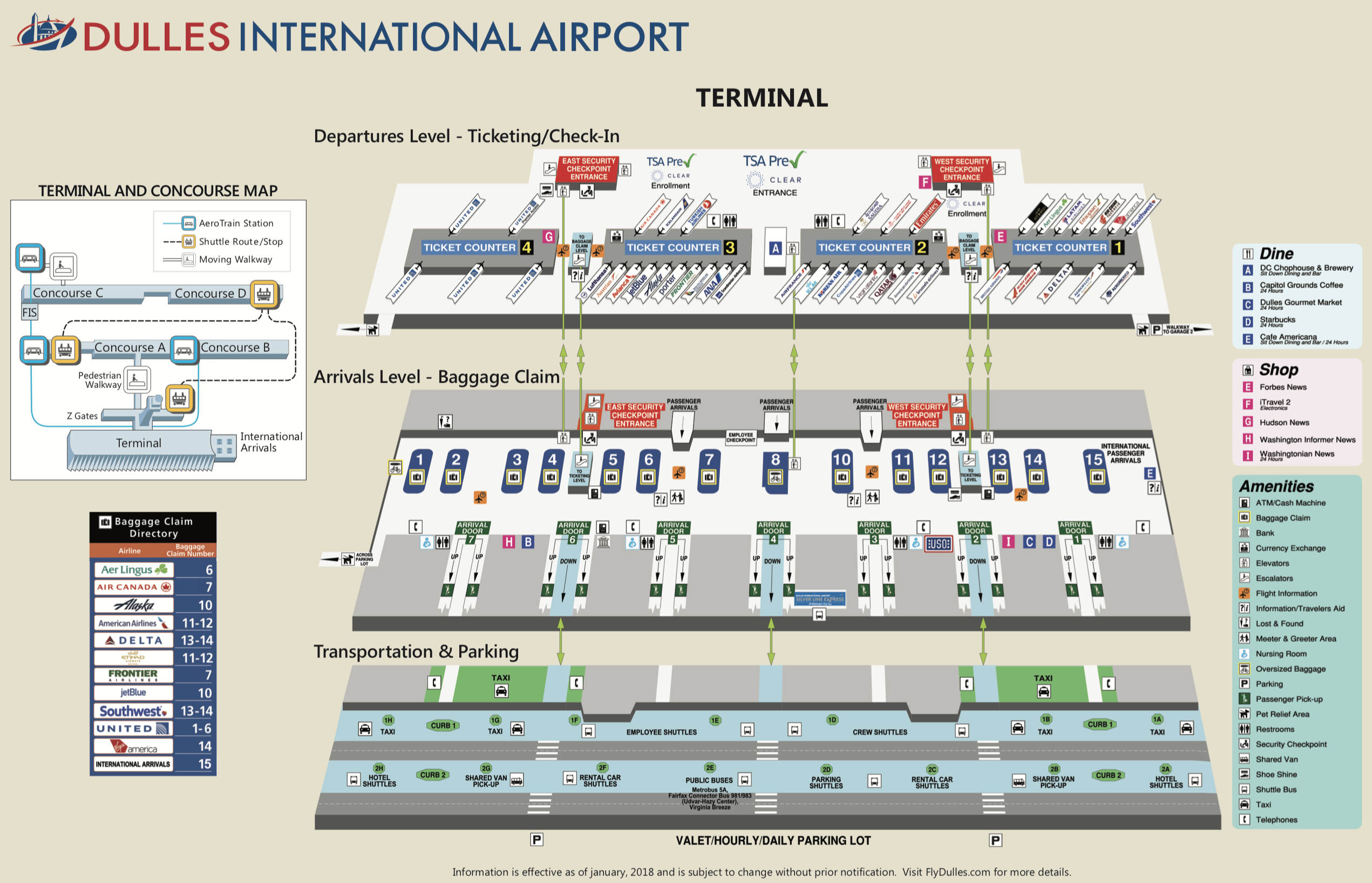 Dulles Airport Terminal Map grapevine mills mall map