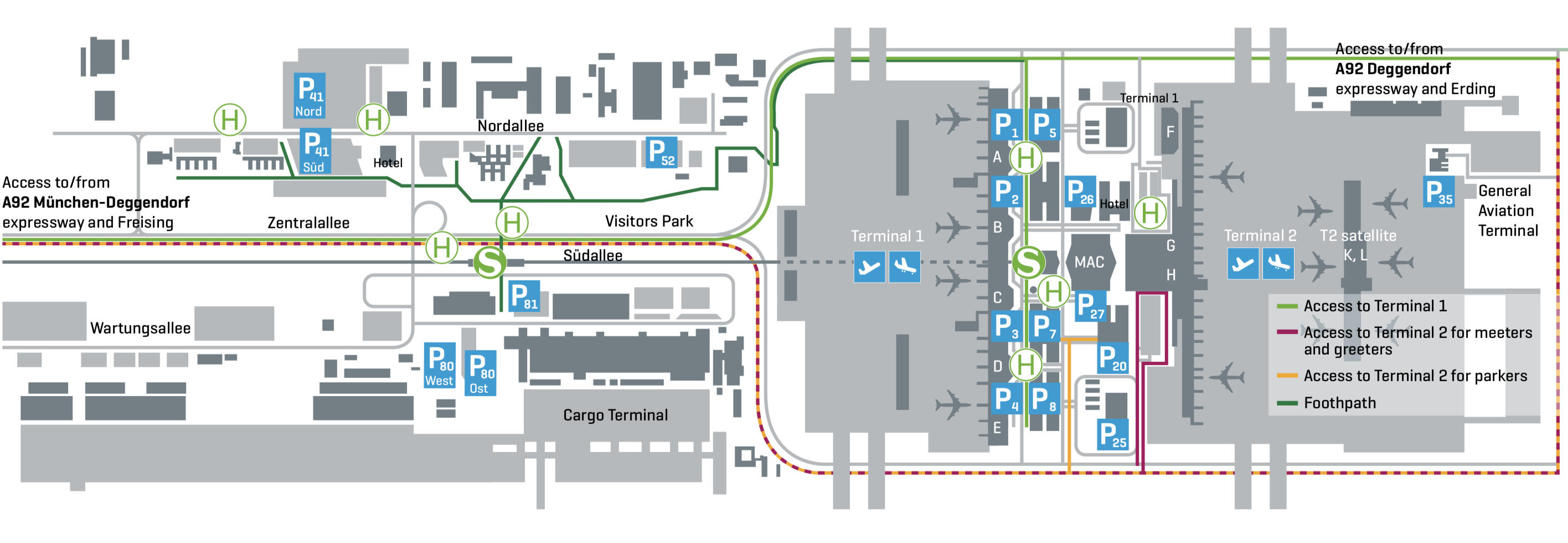 MUC Airport map